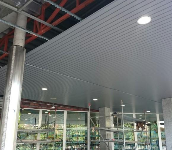 Falso techo Lamas Aluminio. Vilagarcía